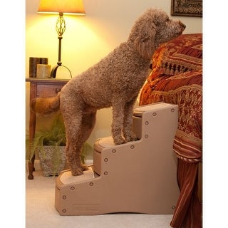 Easy Step III Extra Wide Pet Stairs - Tan