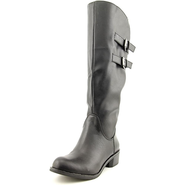 Style & Co Masen Wide Calf Women Round Toe Synthetic Black Knee High Boot