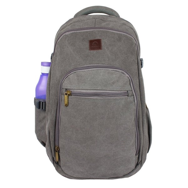 5a0bd153b607 Rustic Town Canvas backpack book laptop bags rucksack for student kids men  women