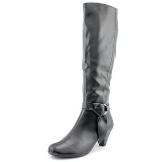 Aerosoles Infamous Women W Round Toe Synthetic Black Knee High Boot
