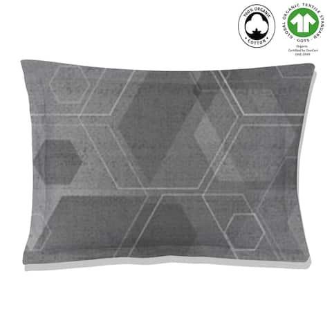 Hexad Reversible Print 100% Organic Cotton Pillowsham Pack of 2