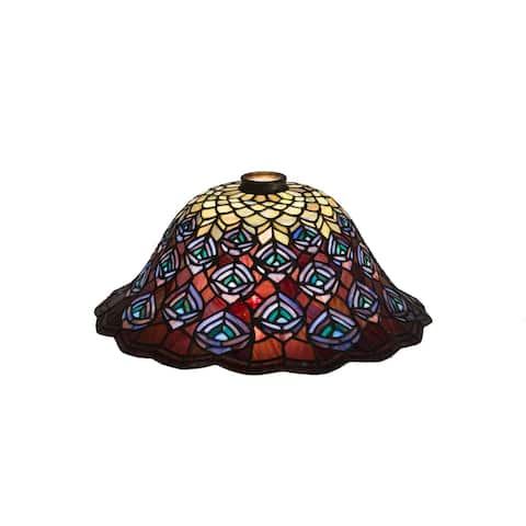 16 In. Wide Tiffany Peacock Feather Shade