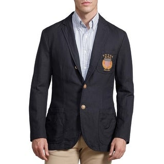 Polo Ralph Lauren Mens Classic Fit Abrahams Crested Sportcoat 42 Long 42L Navy