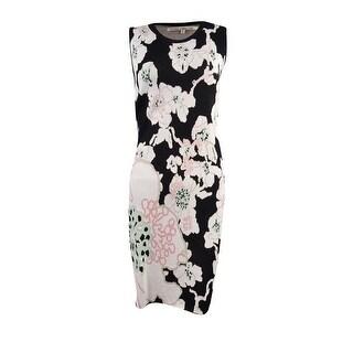 Rachel Rachel Roy Women's Sleeveless Floral Sweater Dress - black combo
