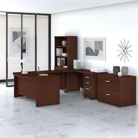 Studio C 60W U Shaped Desk with Storage by Bush Business Furniture
