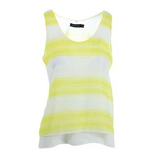 Calvin Klein Womens Juniors Pullover Top Sheer Striped
