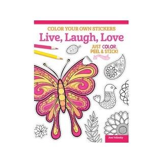 Design Originals Color Your/Sticker Live,Laugh Bk