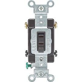 Leviton Brn 4-Way Grnd Switch