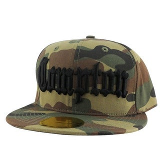 Compton City Camo Black Logo Snapback Hat Cap by CapRobot - Multi-Color