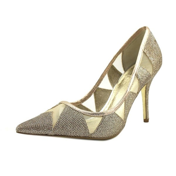 Adrianna Papell Addison Women Pointed Toe Synthetic Silver Heels