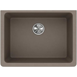 "Elkay ELGU2522 Gourmet 25"" Single Basin Granite Composite Kitchen Sink for Undermount Installations"