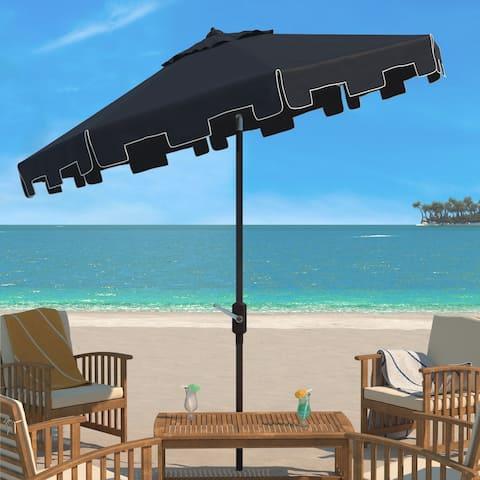 SAFAVIEH Outdoor Living Zimmerman 11Ft Round Market Umbrella