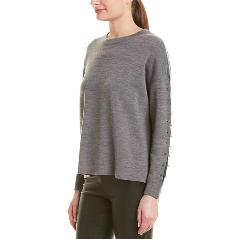 Alice + Olivia Quintin Wool Pullover - B036 MEDIUM GREY/SILVER