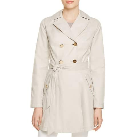 Laundry by Shelli Segal Fit and Flare Beige Trench Coat Size XL