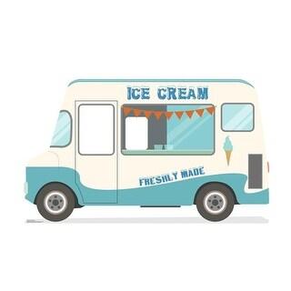 45 x 76 in. Ice Cream Truck Standin Cardboard Standup