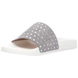 Lucky Brand Womens Piyaa Leather Open Toe Beach Slide Sandals