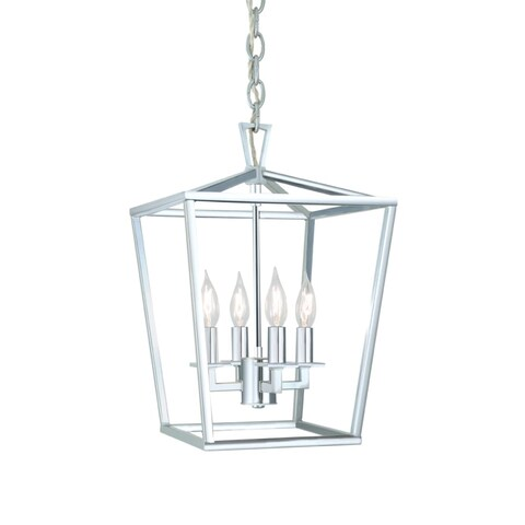 "Norwell Lighting 1080 Cage 12"" Wide 4 Light Pendant with Steel Cage"