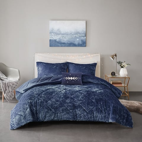 Isabel Velvet Comforter Set by Intelligent Design