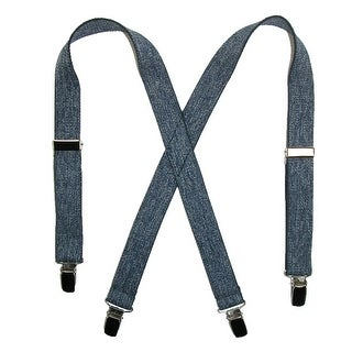 CTM® Kids' Elastic 1 Inch Wide Clip-End Dark Denim Suspenders - Dark Denim - One size