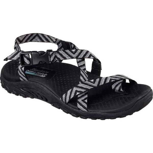 882c365145b0 Shop Skechers Women s Reggae Haystack Ankle Strap Sandal Black Gray ...