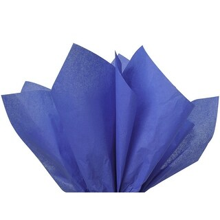 """Pack of 480, Solid Sapphire Blue Tissue Paper 20 x 30"""" Sheet Ream Made From 100% Post Industrial Recycled Fibers"""