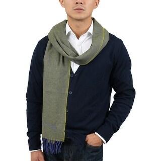 St Dupont Paris 100WS VV Green/Purple 100% Cashmere Classic Mens' Scarf - 14-72