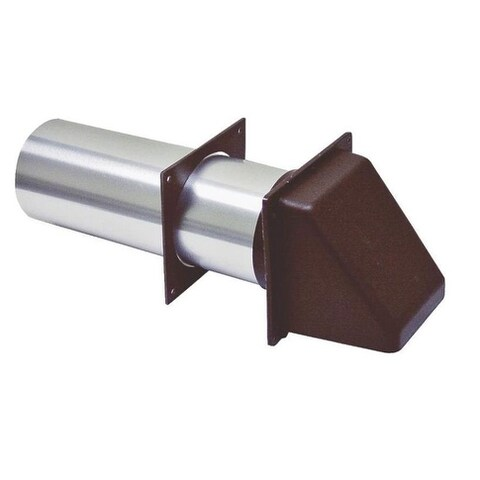 Lambro 222B Plastic Brown Dryer Vent Hood, 3""