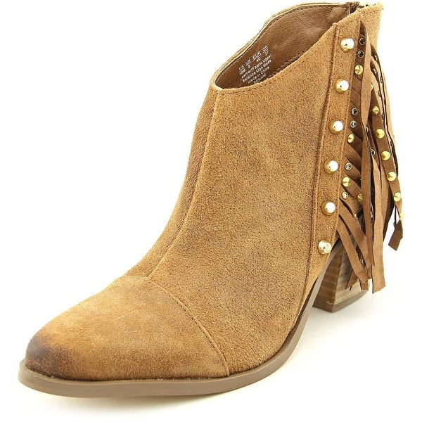 Fergie Bennie Women Pointed Toe Leather Brown Ankle Boot