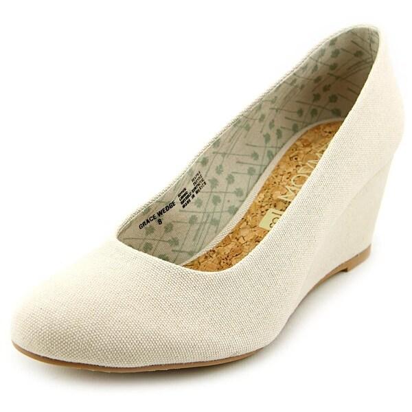 Movmt Grace Wedge Women Open Toe Canvas Ivory Wedge Heel