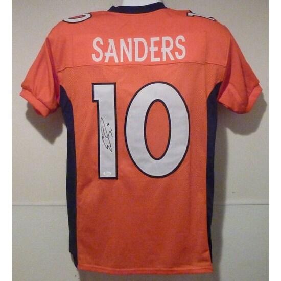 promo code 5a0f4 ce302 Emmanuel Sanders Autographed Denver Broncos orange size XL jersey JSA