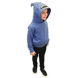 Children's Shark Attack Blue Kid's Hoodie Sweatshirt - 2t