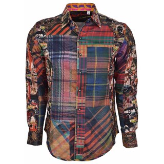 Robert Graham Classic Fit ODD MAN OUT Limited Edition Sport Shirt L
