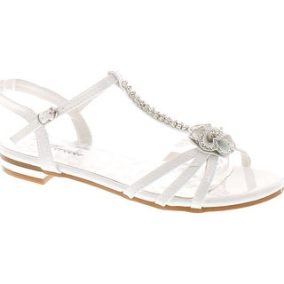 Unique WOMENS FLAT DIAMANTE SPARKLY TOE POST SILVER PARTY WEDDING SANDALS