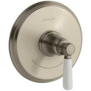 Kohler K-T10593-4P Bancroft Single Ceramic Lever Handle Thermostatic Valve Trim, valve not included