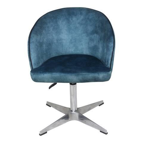 Aurelle Home Modern Velvet Upholstered Swivel Office Chair