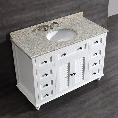 Heather 48-inch Single Sink Bathroom Vanity with Granite Top