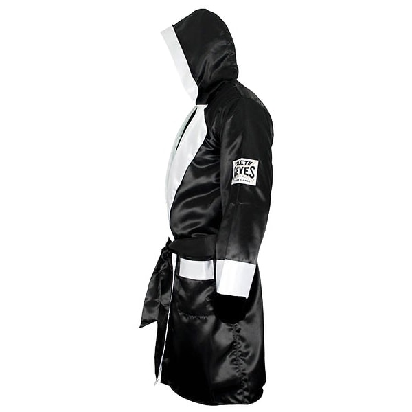 Black//White Cleto Reyes Corner Staff Satin Boxing Robe