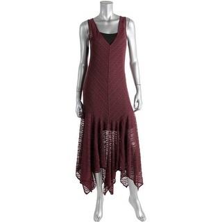 Free People Womens Lace Asymmetric Slip Dress