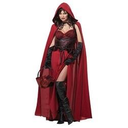 Womens Dark Red Riding Hood Adult Halloween Costume