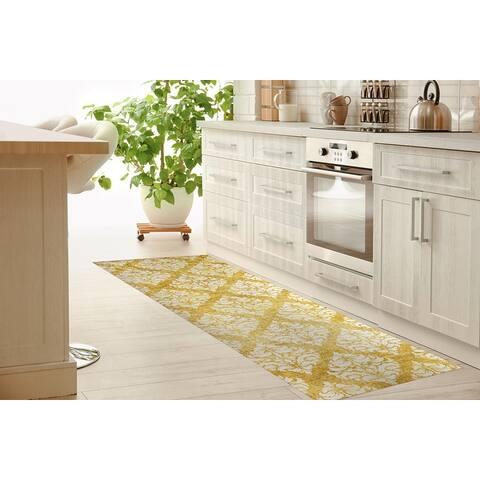 VIGO YELLOW Kitchen Mat by Kavka Designs