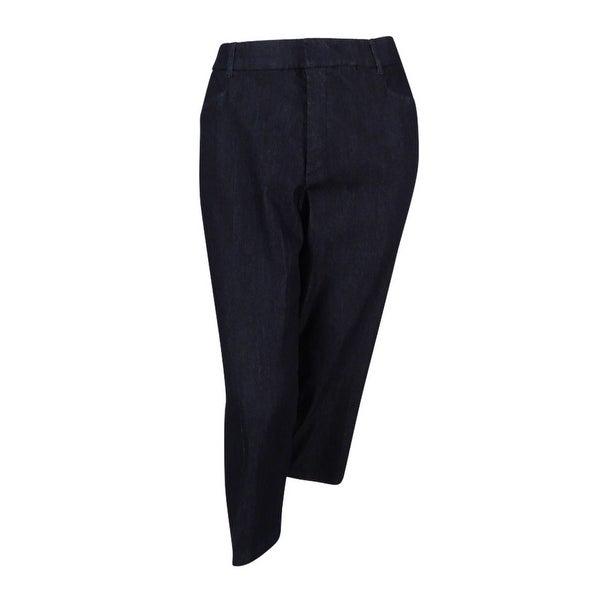 cee1030f99a Shop JM Collection Women s Plus Size Tummy-Control Capri Pants (24W ...