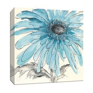 """PTM Images 9-153267  PTM Canvas Collection 12"""" x 12"""" - """"Gerbera Blue III"""" Giclee Flowers Art Print on Canvas"""