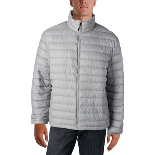 Weatherproof Mens Packable Coat Outerwear Quilted - L