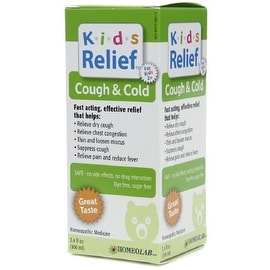 Homeolab USA Kids Relief Cough & Cold Syrup, Ages 2+ 3.4 oz