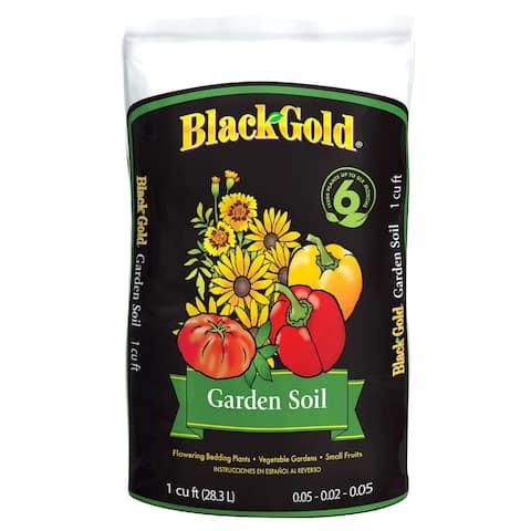 Black Gold 1411603-CFL001P Garden Soil, 1 Cu.Ft., 0.05-0.02-0.05