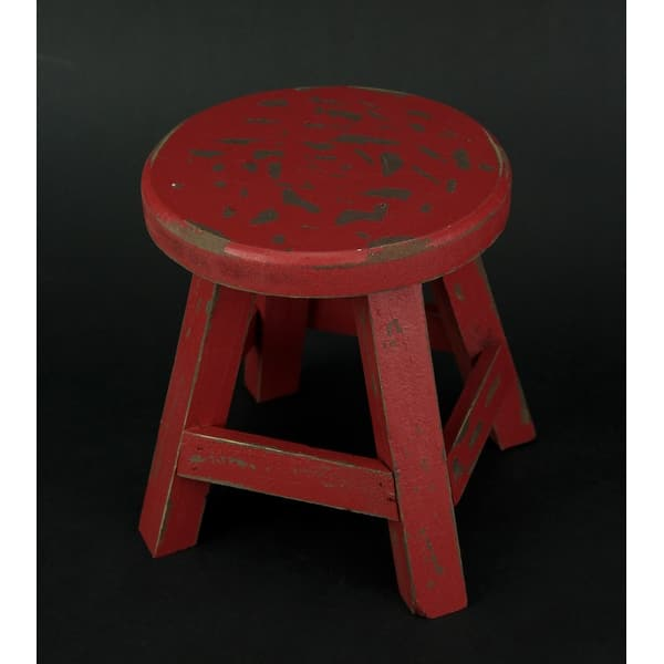 Incredible Shop Rustic Red Wooden Farmhouse Milking Stool Plant Stand Gamerscity Chair Design For Home Gamerscityorg