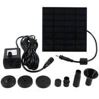 Sunnydaze Outdoor Solar Fountain Water Pump Kit - 20-Inch Lift - 40 GPH