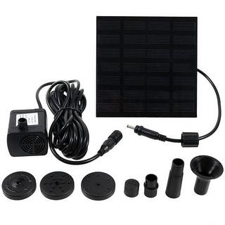 Sunnydaze Solar Fountain Water Pump Kit, 20 Inch Lift, 40 GPH