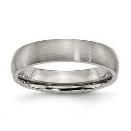 Chisel Rounded Brushed Titanium Ring (5.0 mm)