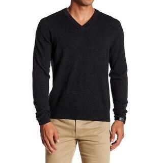 Qi NEW Black Mens Size Medium M Pullover V-Neck Cashmere Sweater